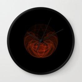 Orange Orb Wall Clock