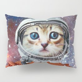 Astronaut Cat #4 Pillow Sham