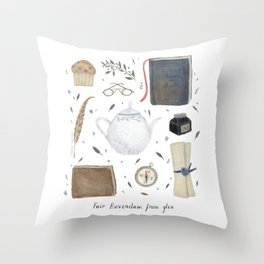 House of the Wise Throw Pillow