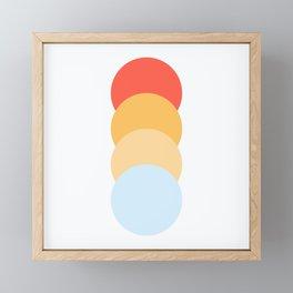 4 Classic Retro Dots Abnoba Framed Mini Art Print