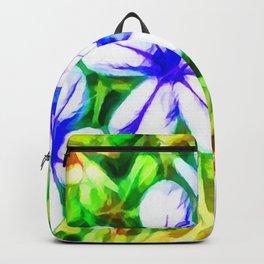 Blue Plumbago flower Backpack