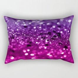 Pink Purple Lady Glitter #1 #shiny #decor #art #society6 Rectangular Pillow