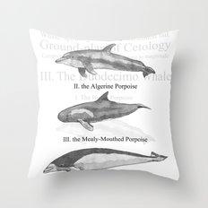 III. The Duodecimo Whale Throw Pillow