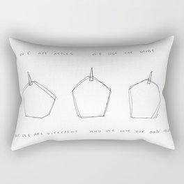 Don't Judge Us But Love Us no.3 Rectangular Pillow