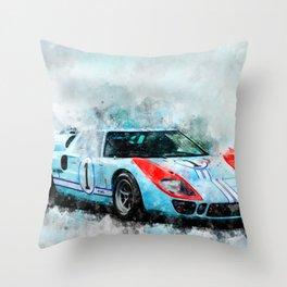 1966 GT40 Throw Pillow