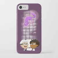 bathroom iPhone & iPod Cases featuring Bathroom (Plum) by Fishfranqz
