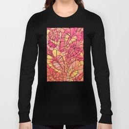 Schismatoglottis Calyptrata – Pink/Peach Palette Long Sleeve T-shirt