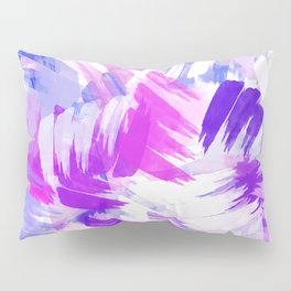 Abstract Purple Paint Pattern Pillow Sham