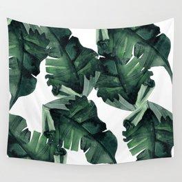 Banana Leaves Pattern Green Wall Tapestry