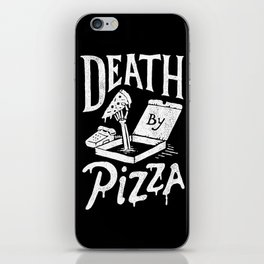 Death by Pizza iPhone Skin