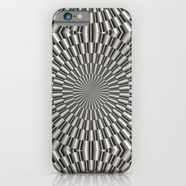 High tech silver metal surface iPhone Case