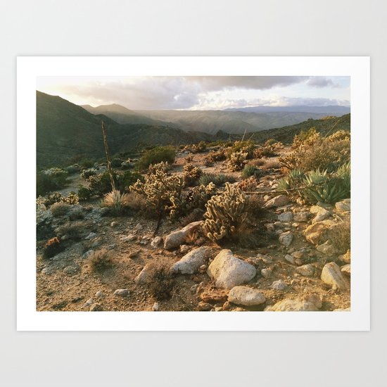 Borrego Desert Sunset Art Print