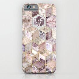 Blush Quartz Honeycomb iPhone Case
