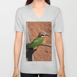 White-fronted Bee-eaters Unisex V-Neck