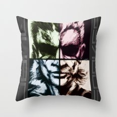 - QUAD SNAKES - Throw Pillow