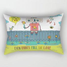 Even robots fall in love Rectangular Pillow