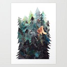 Bigfoot Forest Art Print