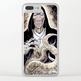 The Unholy Evil Nun Creature Clear iPhone Case