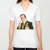 better call saul V-neck T-shirts featuring Better Call Saul by Ryan Ketley
