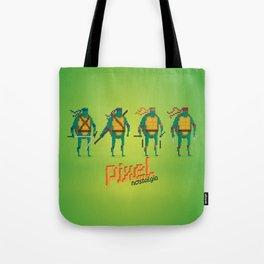 Ninja Turtles - Pixel Nostalgia Tote Bag