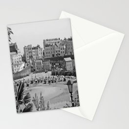 Tenby Harbour. Black+White. Reflection. Stationery Cards