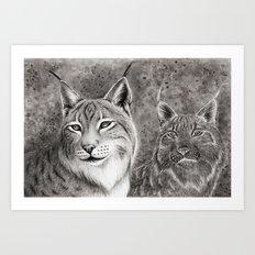 Ever Watchful Eurasian Lynx Art Print