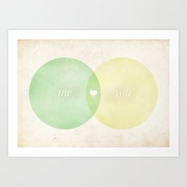 You Me Diagram Art Print