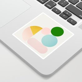 Abstraction_Minimal_Shapes_001 Sticker