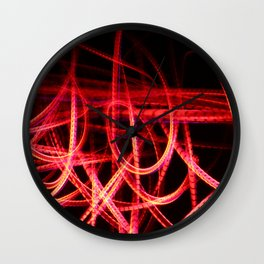Abstract red and orange light effect Wall Clock