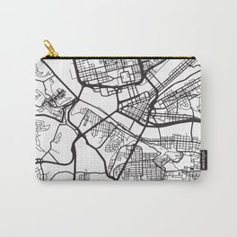 PITTSBURGH PENNSYLVANIA BLACK CITY STREET MAP ART Carry-All Pouch
