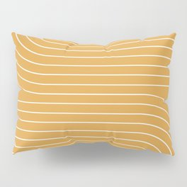 Minimal Line Curvature - Golden Yellow Pillow Sham