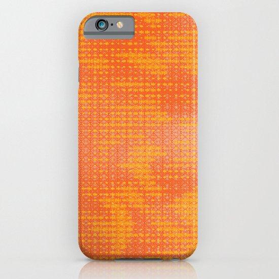 Orange Spirograph iPhone & iPod Case