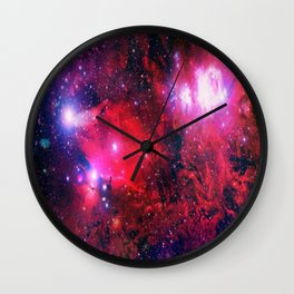 Red Space Wall Clock