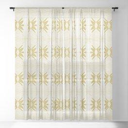 STAR STITCH Sheer Curtain
