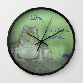 Life Lessons By A Frog Wall Clock