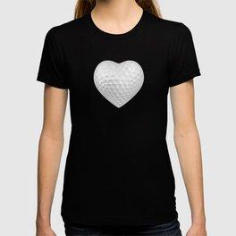 Golf ball heart / 3D render of heart shaped golf ball T-shirt