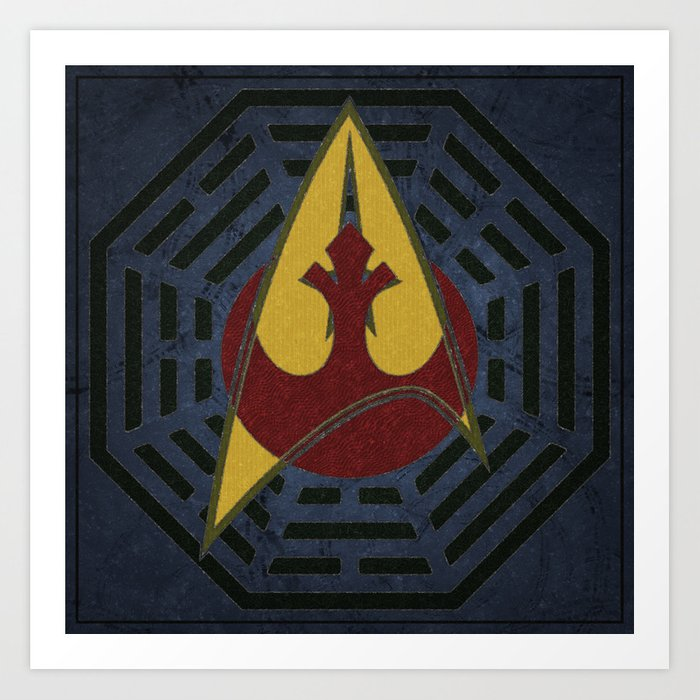 Lost Trek Wars: Square Variant Art Print