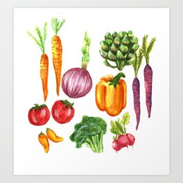 Eat Your Veggies Art Print
