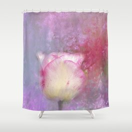 Spring Tulip Impression Shower Curtain