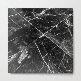 Black Granite Tiles Metal Print
