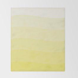 Six shades of yellow. Throw Blanket