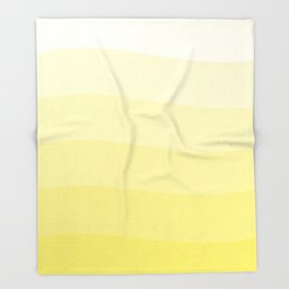 Six Shades Of Yellow Throw Blanket