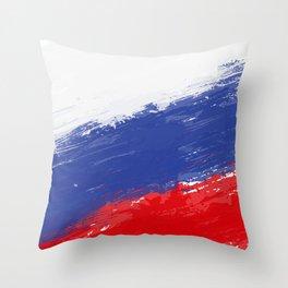 Russia's Flag Design Throw Pillow