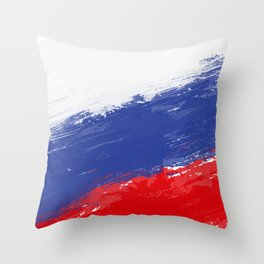 Russia's Flag Design Throw Pillow