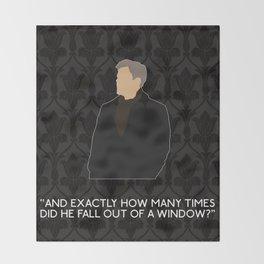 A Scandal in Belgravia - Greg Lestrade Throw Blanket