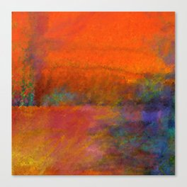 Orange Study #1 Digital Painting Canvas Print