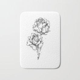 Dotwork Roses Bath Mat