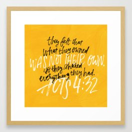 What they owned was not their own Framed Art Print