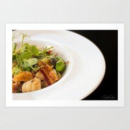 The Art of Food Bacon Sideways Art Print