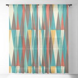 Amazing Mid Century Decoration Sheer Curtain